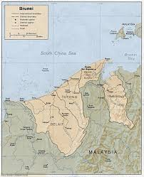 brunei map in world maps of brunei detailed map of brunei in tourist map