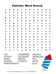 Free Word Search Worksheets Patriotic Word Search 4th Of July Word Search Printable Jpg