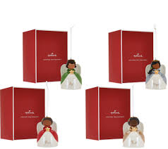 hallmark set of 4 ceramic angel ornaments with gift boxes page 1