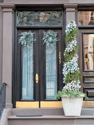 Black Front Door Ideas Pictures Remodel And Decor by 18 Festive Christmas Front Door Decorating Ideas Style Motivation