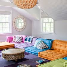 bright colour interior design living room colour schemes