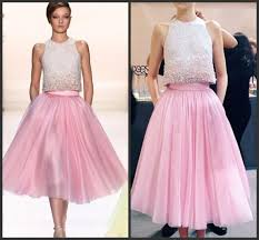party dresses uk two pieces dress modern hot pink tea length prom dresses with