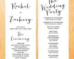 simple wedding ceremony program simple wedding ceremony program template paso evolist co