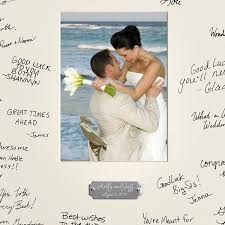 wedding wishes book personalized signature frame w plate single frames