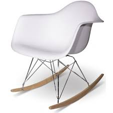 Eames Inspired Rocking Chair Soho Eames Eiffel Style Rocking Chair White Canada Online At Shop