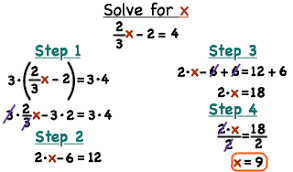 how do you solve a multi step equation with fractions by