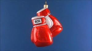 boxing gloves glass ornament