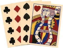 reproduction early american cards deck of 52 track of