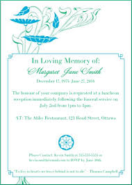 funeral service announcement wording 39 best funeral reception invitations reception invitations