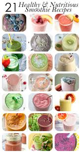 21 healthy smoothie recipes for breakfast energy and more
