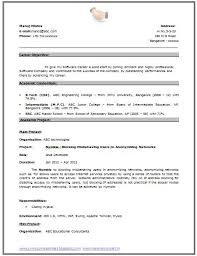 Sample First Resume by My First Resume Template