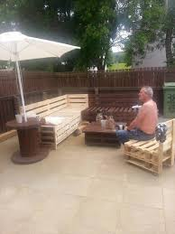 Patio Made Out Of Pallets by Spectacular Pallet Patio Furniture Ideas