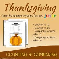 thanksgiving color number counting greater