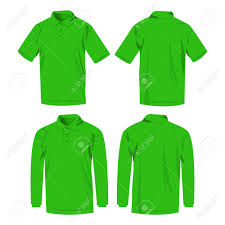 light green polo shirt light green polo shirt and polo with long sleeve isolated vector