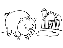 interesting precious moment coloring pages for kids boy and pig