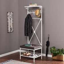 entryway rack bench entryway storage bench with coat rack white and home