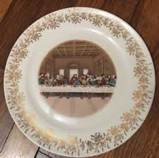 lord s supper plates vintage plate sanders mfg nashville tn lord s last supper 1st