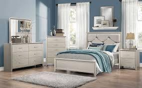 Upholstered Bedroom Sets Coaster Lana Upholstered Bedroom Set Silver 205181 Bedroom Set