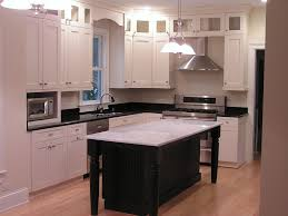 L Shaped Kitchen Island Traditional Kitchen With Stainless Steel Appliances U0026 Glass Panel