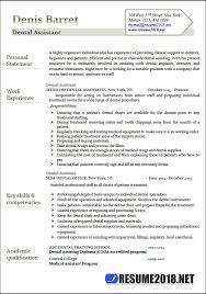 dental assistant resume template dental assistant resume sles 2018 resume 2018