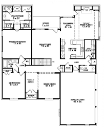 4 Bedroom House Plans 1 Story Home Design 653916 Two Story 5 Bedroom 45 Bath Traditional Style