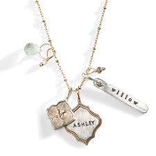 personalized charm necklaces avalon personalized charm necklace sted necklace