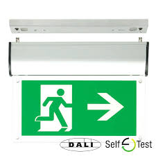 dextra self test emergency lighting fish key hanging fire exit