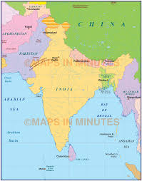 India Physical Map by India Simple Political Map 10 000 000 Scale Asia Country Maps