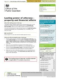 Nevada Power Of Attorney Form by Lpa117 Property Financial Affairs Lpa Pdf Power Of Attorney