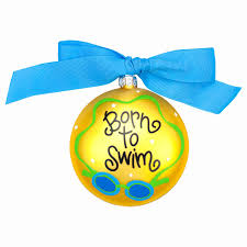 amazon com born to swim ornament decorative hanging ornaments