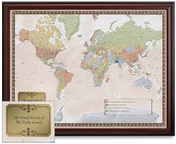 Ohio world traveller images Maps update 700574 personalized world traveler map framed jpg