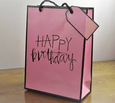 gift bags 88126 medium large pink happy birthday gift bags tag