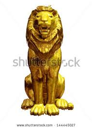 gold lion statues gold lion stock images royalty free images vectors