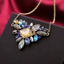 fashion collar necklace wholesale images Kiss me exquisite rhinestone pendant necklace 2016 wholesale jpg