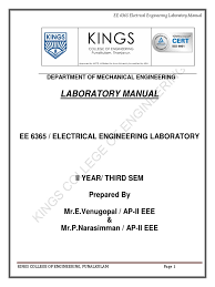 ee6365 electrical engineering laboratory transformer voltage