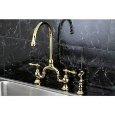 bridge style kitchen faucet bridge kitchen faucets for less overstock