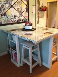 scrapbook table turned craft table u2013 art room part 2 house of