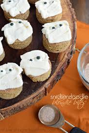 mummy halloween cake snickerdoodle blondie bites shugary sweets