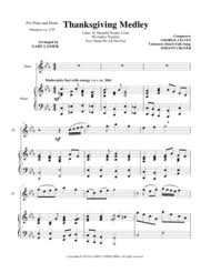 thanksgiving medley flute piano and flute part sheet