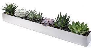 veradek geo trough planter modern indoor pots and planters