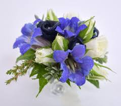 blue toned wrist corsages u2013 flowers by tanya