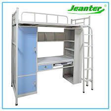 Bunk Beds For College Students College Student Dormitory Metal Bunk Bed Steel Wardrobe Computer