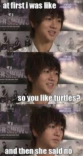 I Like Turtles Meme - awww yesung i like turtles buddy the elf quotes pinterest