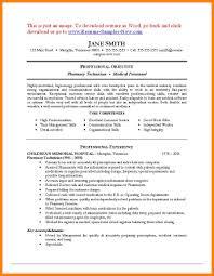 Paraprofessional Resume Sample 10 Pharmacy Tech Resume Samples Address Example