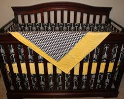 Black And Yellow Crib Bedding Yellow Toile Baby Nursery Bedding Set In An Antique White Crib
