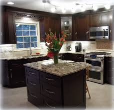 Kitchen Cabinet Undermount Lighting by Completed Kitchen Mocha Maple Shaker Cabinets Exotic Granite