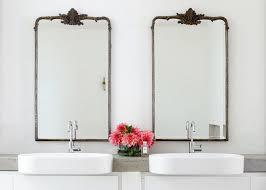 outstanding metal bathroom mirrors foter trim for vanity wall