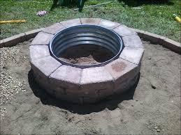 outdoor magnificent how to build a stone fire pit inexpensive