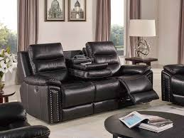 jetson reclining 3 pc sofa set leather air code g03 brown