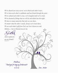 will you be my bridesmaid poem bridesmaid thank you print poem wedding
